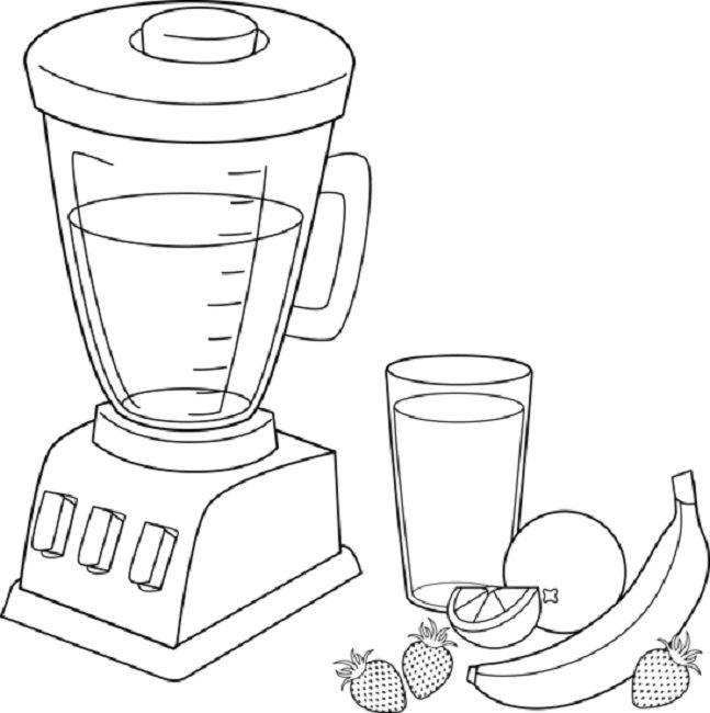 Blender clipart fruit smoothie. Coloring pages food pinterest