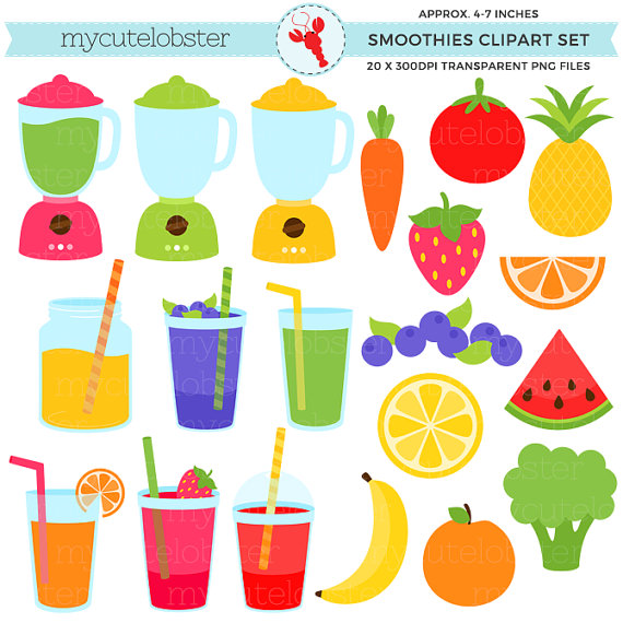 Smoothies Clipart Set
