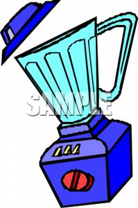A Colorful Cartoon of a Household Blender