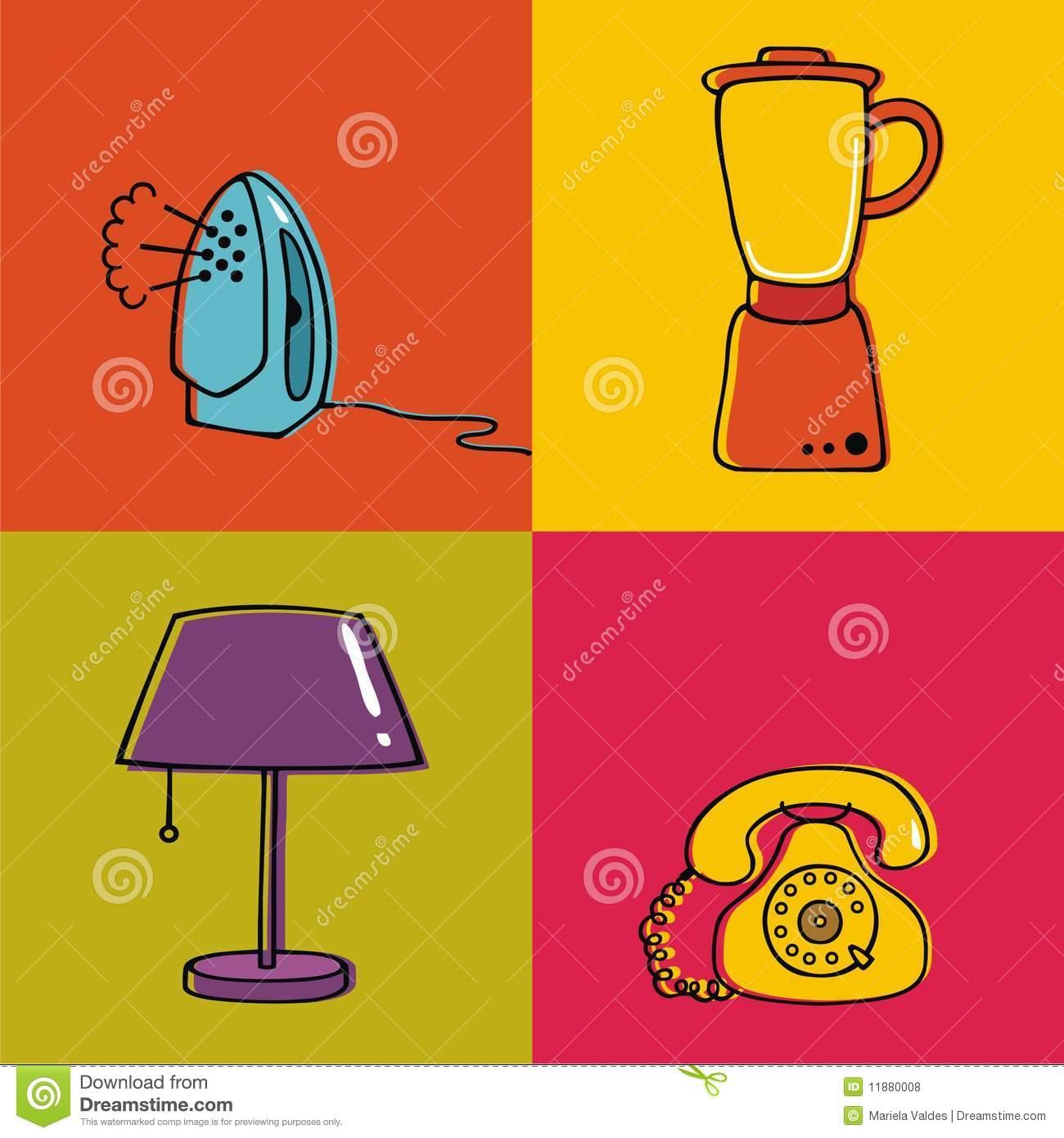 Household items lamp panda. Blender clipart house hold
