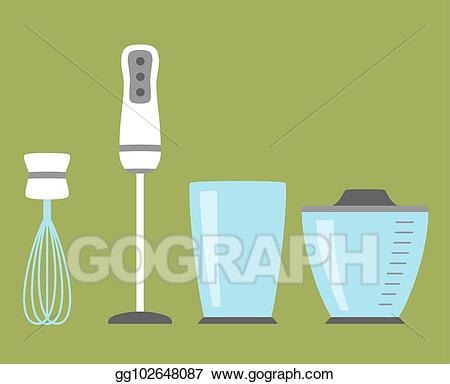 Vector stock simple icon. Blender clipart house hold