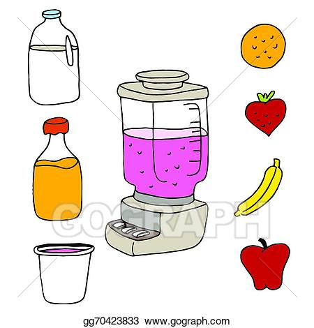 Blender clipart juice blender. Vector art item set