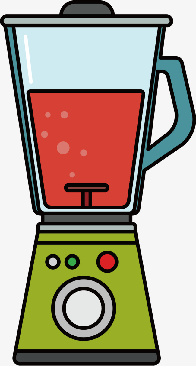 Hand drawing machine liquidizer. Blender clipart juicer