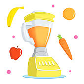Juice stock illustrations royalty. Blender clipart juicer machine