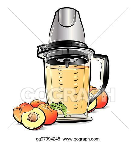 Vector illustration drawing color. Blender clipart kitchen blender