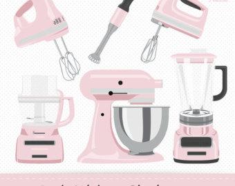 Blender clipart kitchen supply. Kitchenaid etsy pink electronics