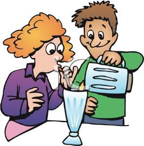 Blender clipart milkshake. A boy pouring from