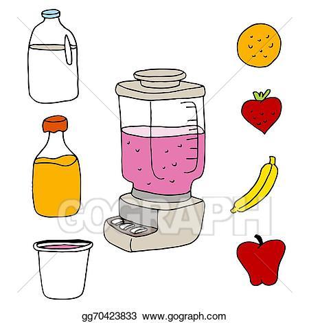 Vector art juice item. Blender clipart object
