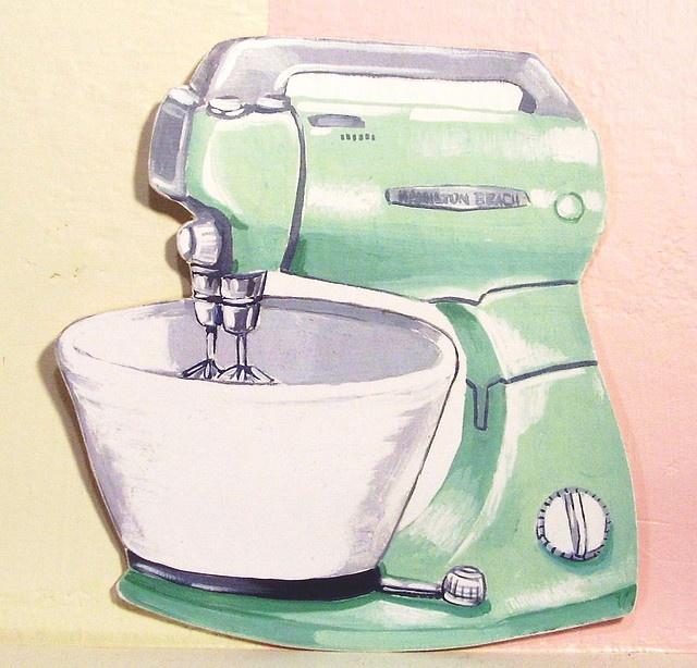 Vintage kitchen . Blender clipart small appliance