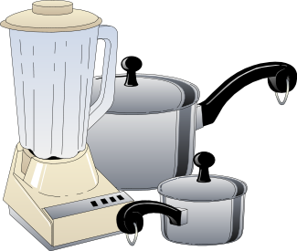 Blender clipart small appliance. And pots household kitchen