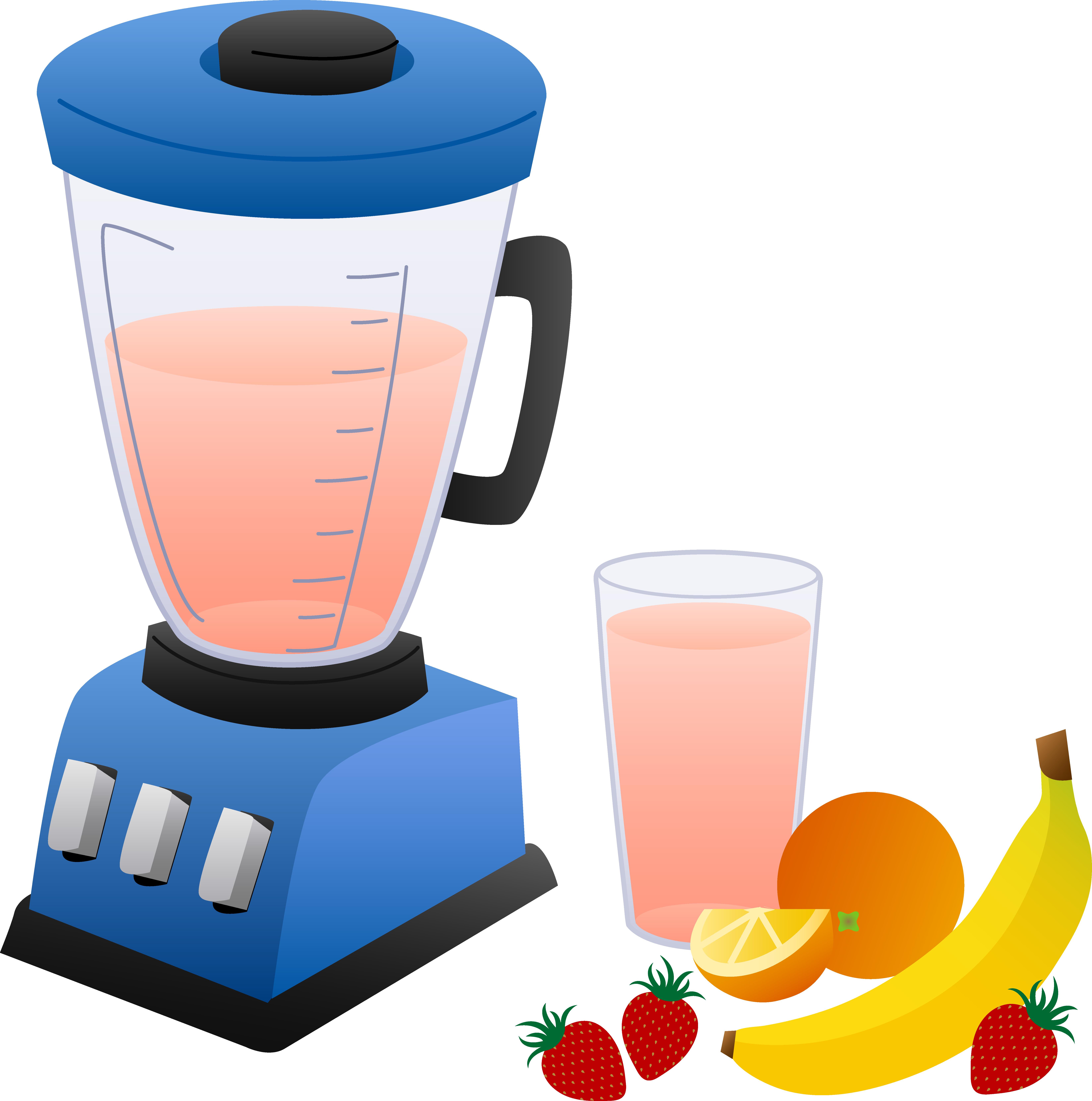 Power clipground juice machine. Blender clipart smoothie maker