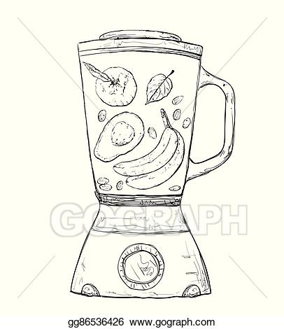 Vector stock cooking smoothie. Blender clipart smoothy
