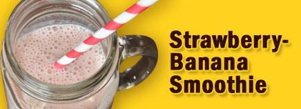 Blender clipart strawberry banana smoothie.