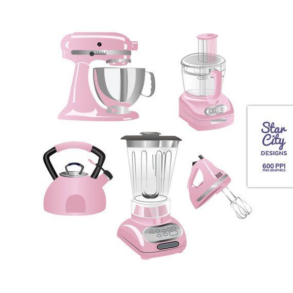 Blender clipart template. Kitchen clip art pink