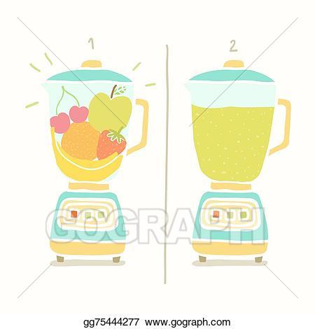 Blender clipart vector. Art making fruit smoothie