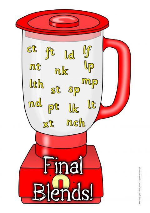 Blender clipart word. Final blends teaching resources