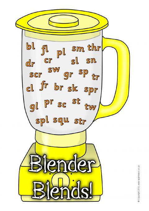 Blender clipart word. Initial blends visual aids