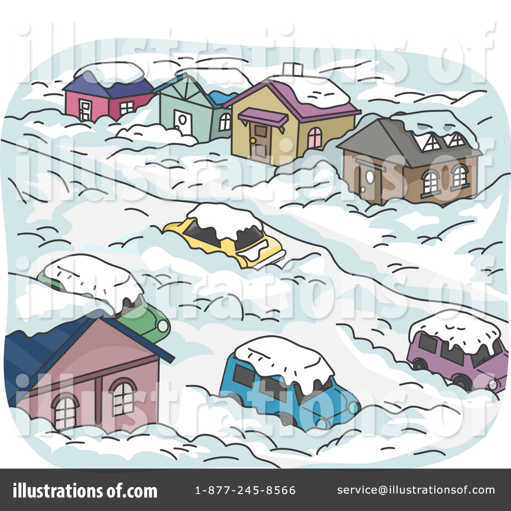 Blizzard clipart. Illustration by bnp design