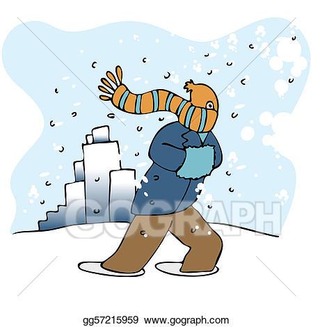 Eps vector stock illustration. Clipart winter blizzard
