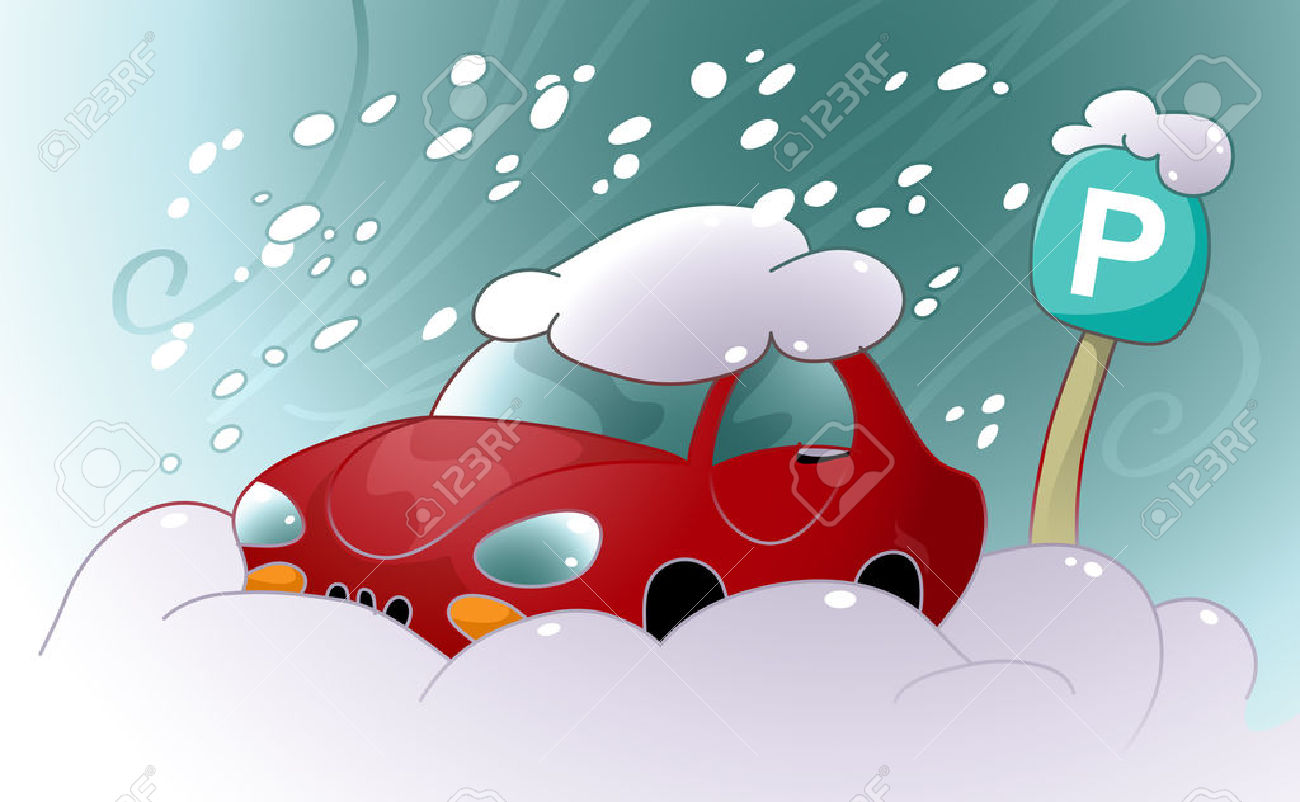 best snow on. Blizzard clipart car
