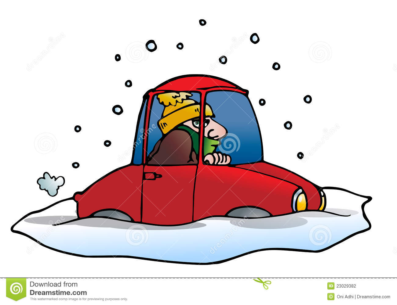 Snow free . Blizzard clipart car