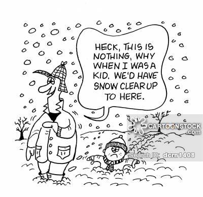 Snow cartoons and comics. Blizzard clipart humor