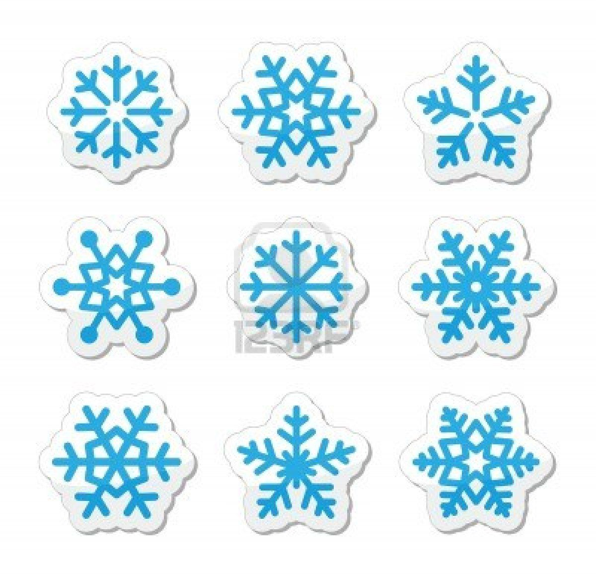 Blizzard clipart icon. Christmas snowflakes icons set