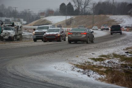 Over crashes reported friday. Blizzard clipart icy road