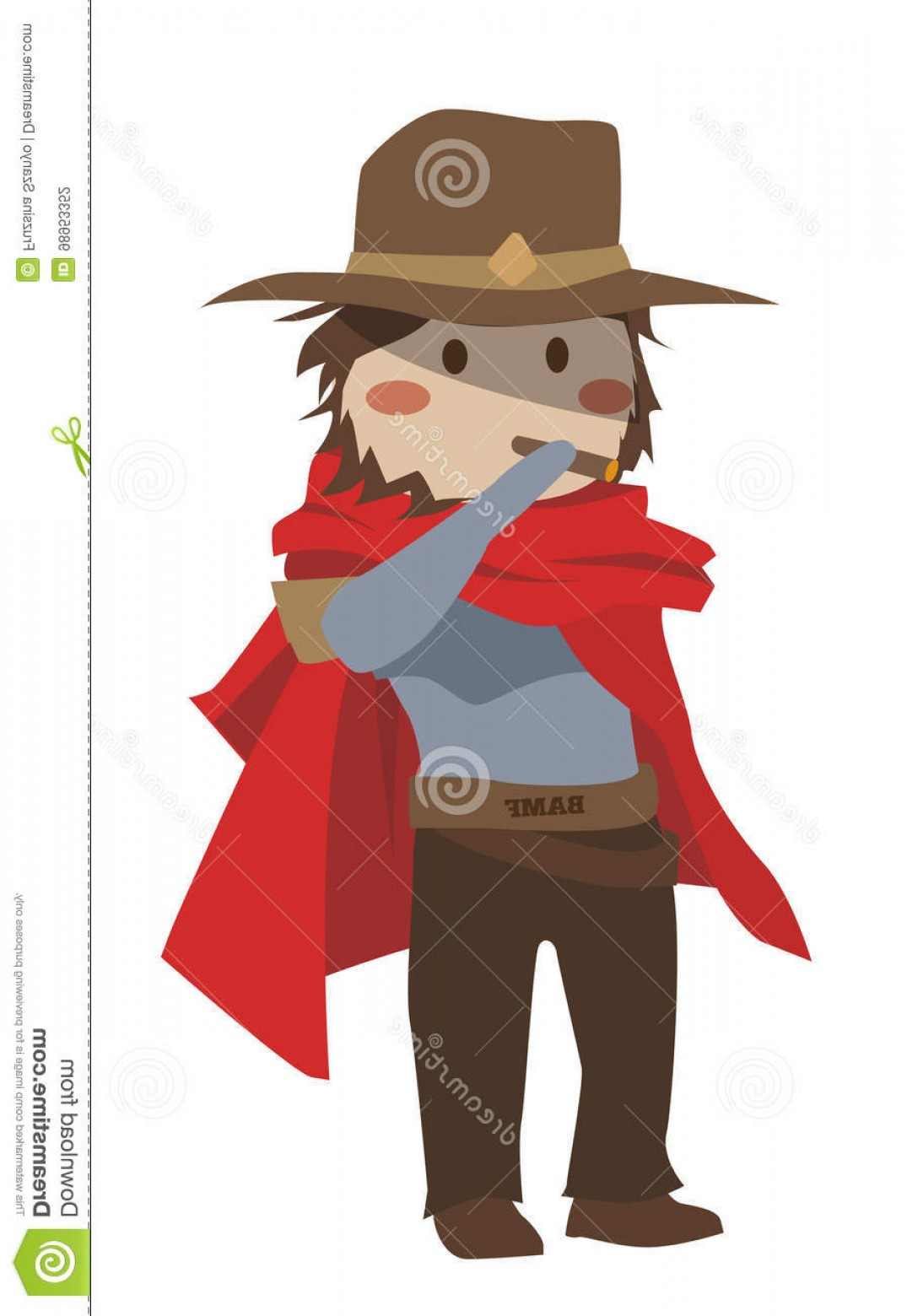 Stock overwatch mccree s. Blizzard clipart illustration