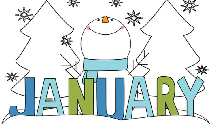 best calendar images. Blizzard clipart january