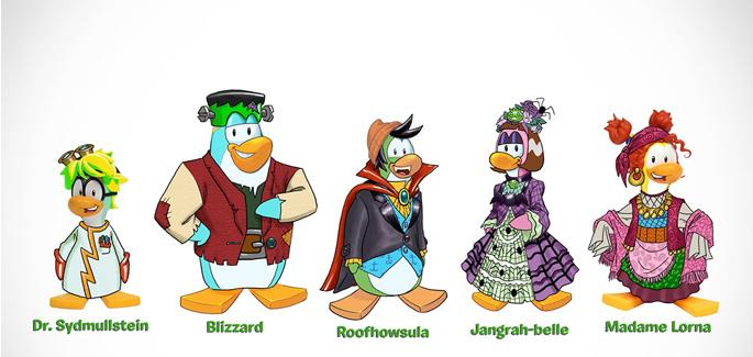 Club penguin halloween behind. Blizzard clipart panic