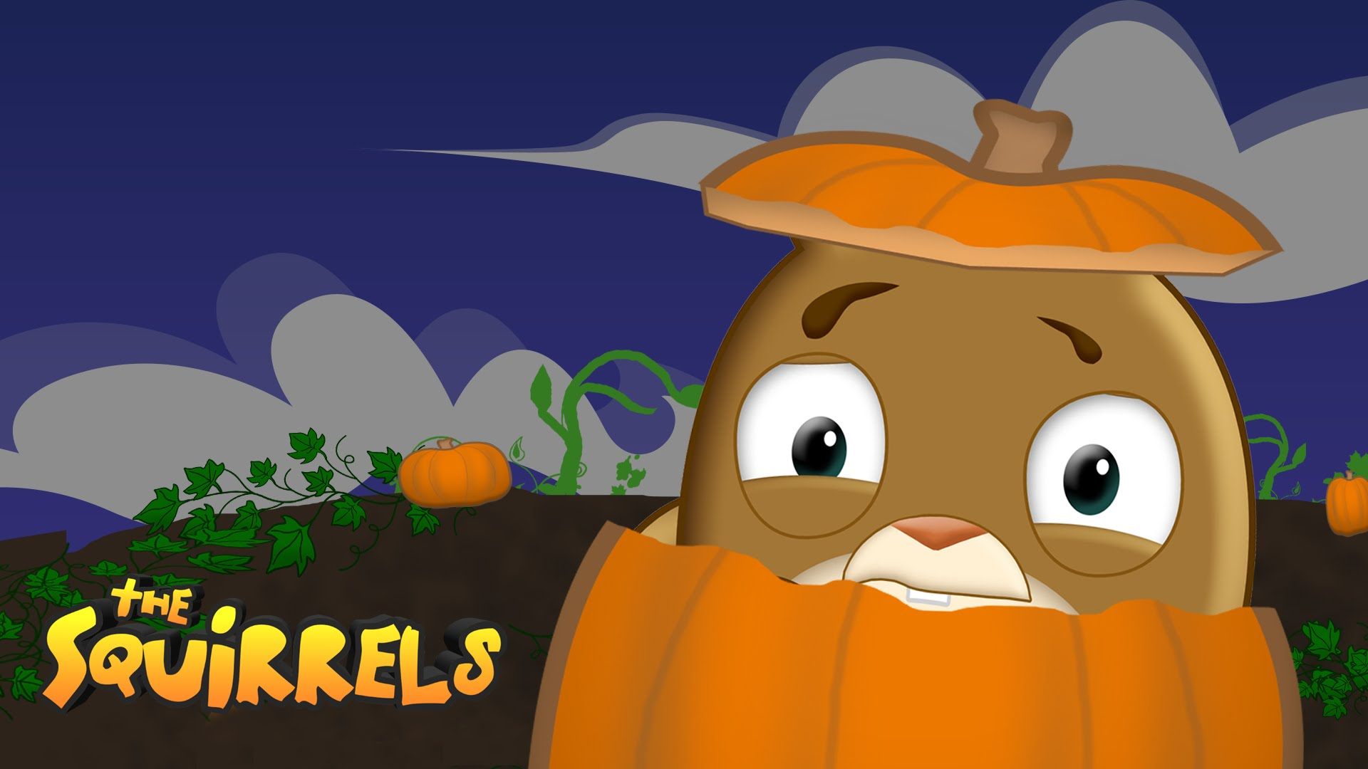 The squirrels pumpkin animated. Blizzard clipart panic