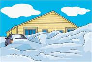 Free weather clip art. Blizzard clipart scene