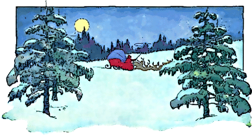 Blizzard clipart scene. Free christmas scenes pages