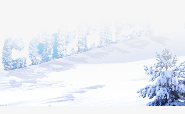 Creative tree png image. Blizzard clipart snow background