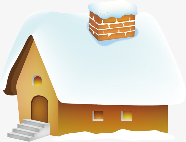 Vector house material creative. Blizzard clipart snow flower