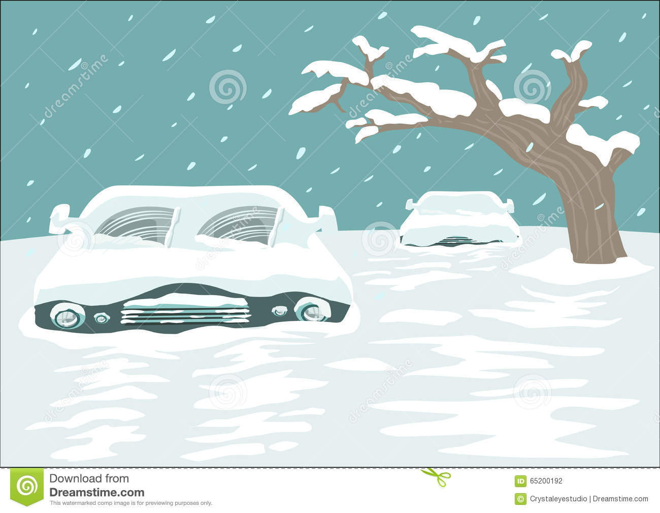 Pencil and in color. Blizzard clipart snow ground