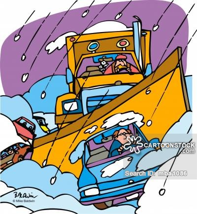 Plough cartoons and comics. Blizzard clipart snow removal