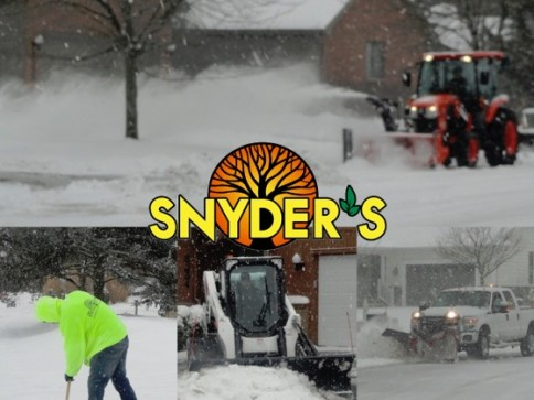 Blizzard clipart snow removal. Snyder s landscape design