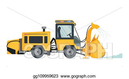 Blizzard clipart snow removal. Vector stock plow truck