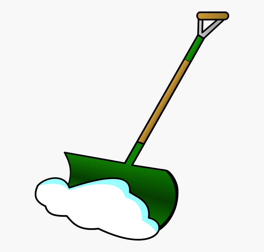 Royalty free medium image. Blizzard clipart snow shoveling