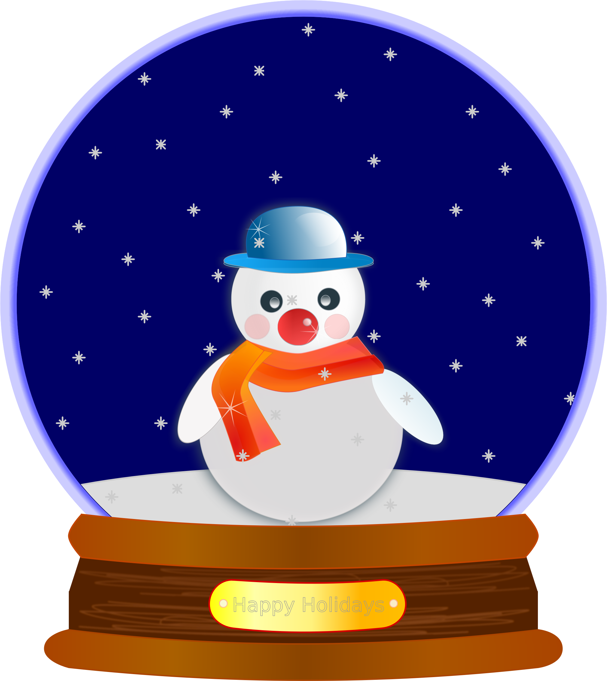 Animated snow group globe. Moving clipart office