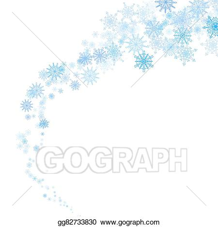 Blizzard clipart snowflake. Vector illustration blue snowflakes