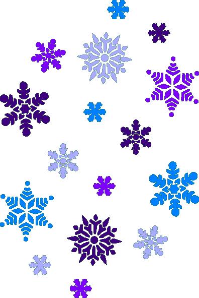 Blizzard clipart snowflake. Multi blue snowflakes clip