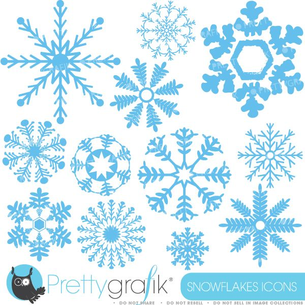 Winter snowflakes decorative for. Blizzard clipart snowflake