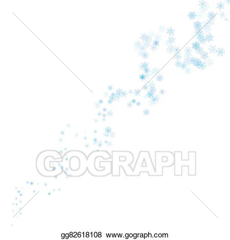 Vector illustration blue snowflakes. Blizzard clipart snowflake