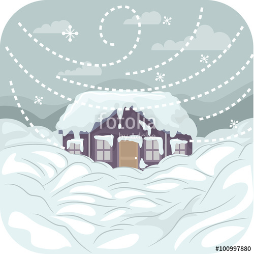 Blizzard clipart snowstorm. Stock image and royalty
