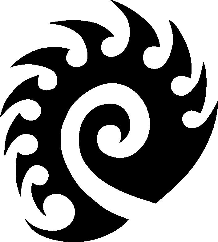 Blizzard clipart symbol. Starcraft zerg logo vector