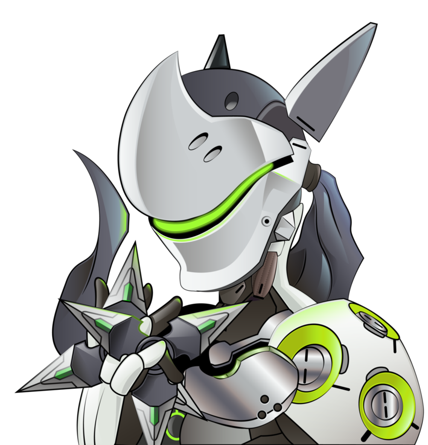 Genji from overwatch by. Blizzard clipart transparent