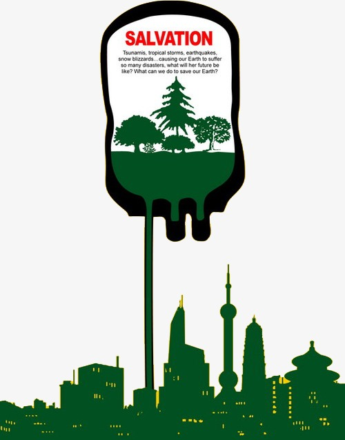 Green city protect environment. Blizzard clipart tropical storm
